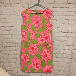 Dresses & Skirts - Talbots petite pink and green sheath dress Sz 10P